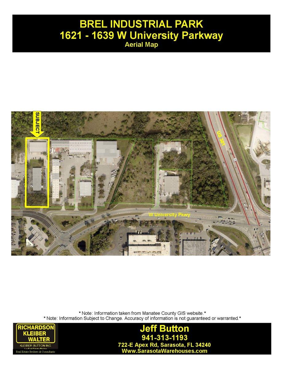 27,000 SF Multi-Unit Industrial Complex 1621 – 1639 West University Pkwy, Sarasota, FL 34243
