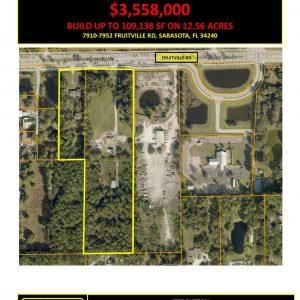 12.56 Acres For Sale Approved for Development – Fruitville Rd