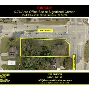 0.76 Acre Office Site For Sale at Signalized Corner